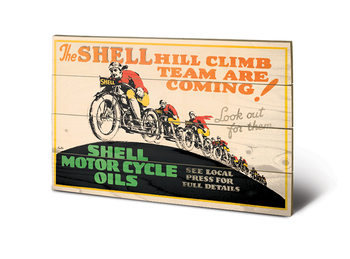 Shell - Hill Climb Schilderij op hout