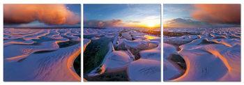 Sunrise on the coast Schilderij