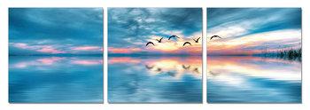 Sunrise over sea Schilderij