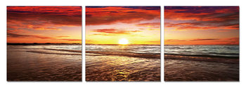 Sunset by the Sea Schilderij