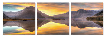 Sunset in countryside Schilderij