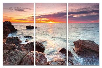 Sunset on the beach Schilderij