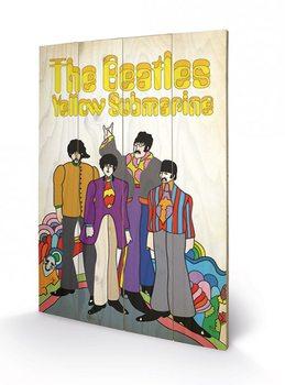 The Beatles - Yellow Submarine Band Schilderij op hout