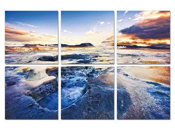 The tide in sunset Schilderij