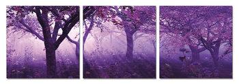 Trees in purple Schilderij