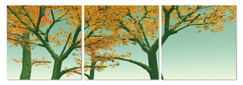 Yellow leaves on a tree Schilderij