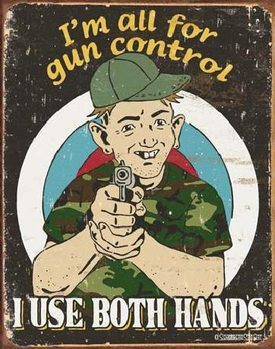метална табела  SCHONBERG - Gun Control