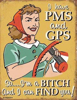 Schonberg - PMS & GPS Metalen Wandplaat