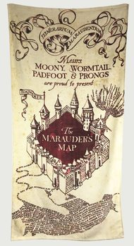 Serviette Harry Potter - Marauder's Map