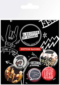 Set insigne 5 SECONDS OF SUMMER - Mix 1