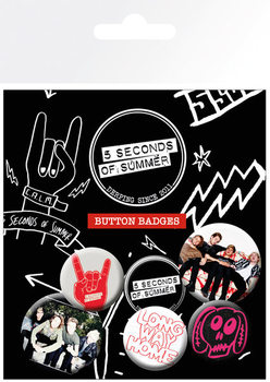 Set insigne 5 SECONDS OF SUMMER - Mix 2