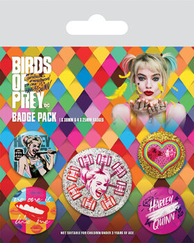 Set insigne Birds Of Prey: And the Fantabulous Emancipation Of One Harley Quinn - No One Is Like Me