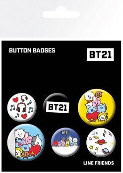 Set insigne BT21 - Mix