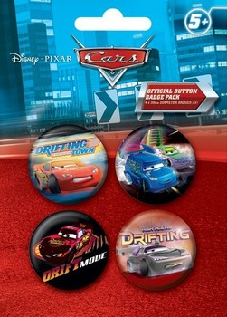 Set insigne CARS DRIFT 2