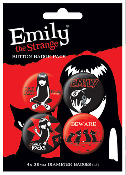 Set insigne  EMILY THE STRANGE 1