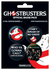 Set insigne GHOSTBUSTERS - peter, ray
