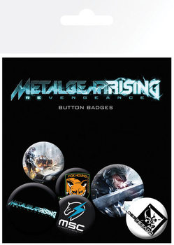 Set insigne METAL GEAR RISING