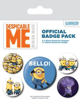 Set insigne Minions (Despicable Me) - Variety