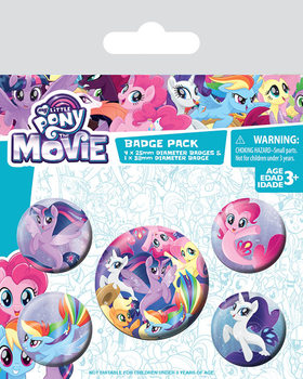 Set insigne My Little Pony Movie - Sea Ponies