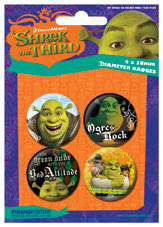 Set insigne SHREK 3