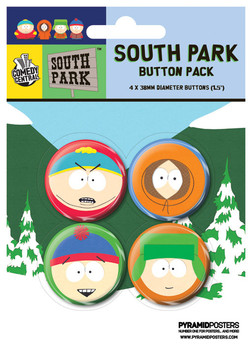 Set insigne SOUTH PARK - Faces