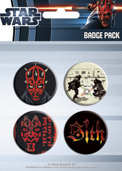 Set insigne STAR WARS - darth maul