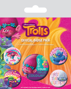 Set insigne Trolls - True Colours