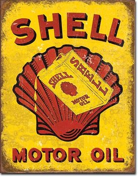 Shell Oil - Can Metalen Wandplaat