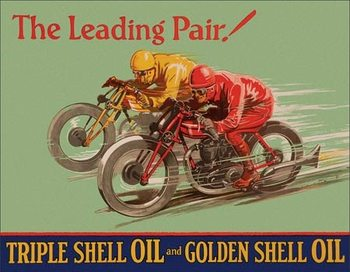 Shell - Winning Pair Metalen Wandplaat
