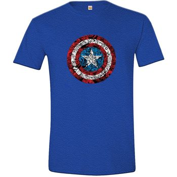 Shirt Captain America - Collage Shield