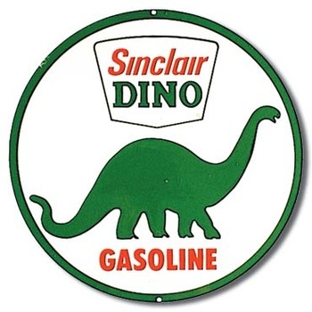 SINCLAIR DINO GASOLINE Metalen Wandplaat