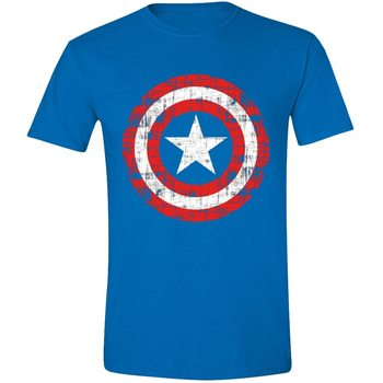 Captain America - Cracked Shield Skjorte