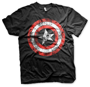 Captain America - Distressed Shield Skjorte