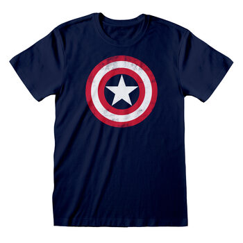 Marvel Comic - Captain America Shield Skjorte