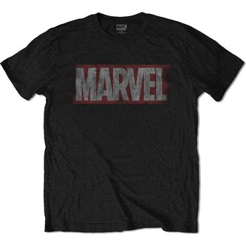 Marvel - Distressed Marvel Box Logo Skjorte