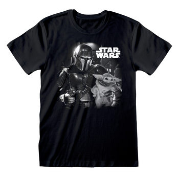 Star Wars: The Mandalorian - BW Photo T-shirt