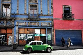 Skleněný Obraz Auta - Zelené auto