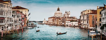 Skleněný Obraz Benátky - Pohled na město