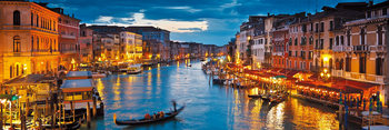 Skleněný Obraz Benátky - Pohled plný barev