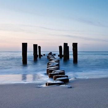 Skleněný Obraz Dřevěná cesta do moře