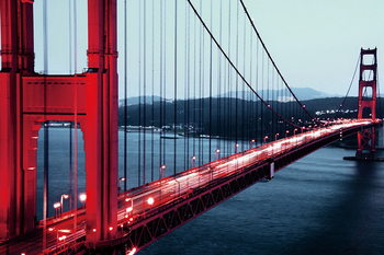 Skleněný Obraz Golden Gate (Zlatá brána) - San Francisco
