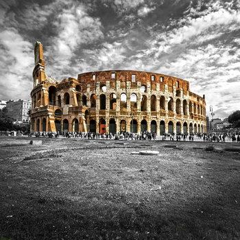 Skleněný Obraz Koloseum - b&w