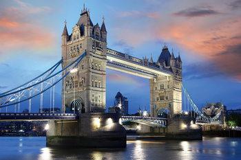 Skleněný Obraz Londýn - Tower Bridge