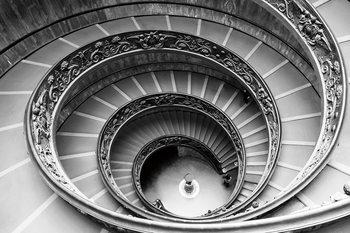 Skleněný Obraz Město - b&w schody