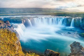 Skleněný Obraz Moře - Klidný vodopád
