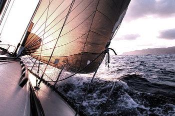 Skleněný Obraz Moře - Loď na moři