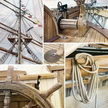 Skleněný Obraz Námořní loď - Koláž 1