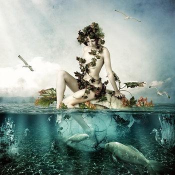 Skleněný Obraz Netradiční umění - Žena