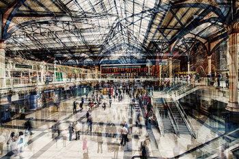 Skleněný Obraz New York - Grand Central Station