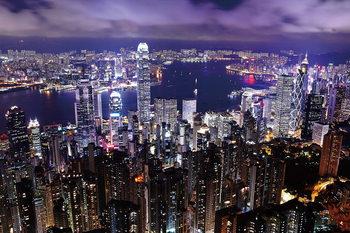 Skleněný Obraz Noční pohled na město